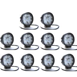 Wholesale 12 Volt Flood Lights - 10pcs 4 inch 27W 9-LED Epistar LED Off road Driving Lights 9-32V 4x4 4WD Jeep ATV Motorcycle Spot Flood Fog Lamps 12 volt led offroad light