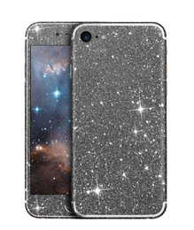 Wholesale Glittering Sticker Iphone - Glitter Phone Sticker For Iphone 7 6 6s Plus Sumsang S7 Huawei Bling Shining Soft TPU Colorful Front and Back Sticker With Retail Package
