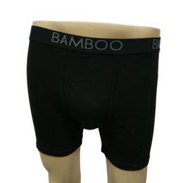 Wholesale Men S Bamboo Underwear - Boxers Solid Style Mens Underwear Black Bamboo Fiber Comfortable Slim Fit Mens Underwear for Men Everyday