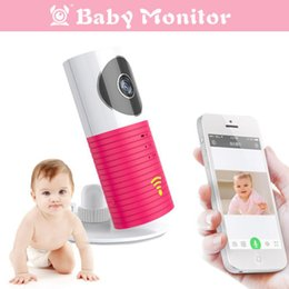Wholesale Wireless Battery Video Camera - Mini Clever Dog Wireless Wifi Baby Monitor With Camera Video Night Vision