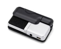 Wholesale Usb Microphone Clip - Original Samson Go Mic clip type Mini Portable Recording Condenser Microphone with USB Cable Carrying Case for computer