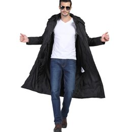 Wholesale Men Over Coats - Wholesale- 20176 winter men's long down jacket over the knee large size 3XL business casual coat thick white high-quality duck down MK472