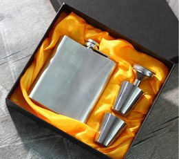 Wholesale Wedding Gift Flask - Gift Groomsman Personalized 4 Pieces Stainless Steel 7-oz Flask in Gift Box wine flask flask liquor