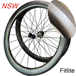 Wholesale New Year Set - Tubeless New 2 year warranty 58mm dimple wheelset 45 404 carbon wheels 50 bike rim 80 clincher wheelset