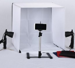 Wholesale Backdrop Camera - Portable 50cm*50cm 20inch*20inch Camera Photo Studio For Camera +portable bag + 4 Backdrops Free Shipping