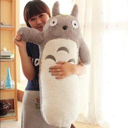 Wholesale Long Cushion Plush - Wholesale- 1 pcs 50CM kawaii Japanese style Studio Ghibli anime cat stuffed animal,Long My Neighbor Totoro Pillow plush toys Doll Cushion