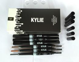 Wholesale Make Permanent - Waterproof Kylie Eyebrow Pencil Enhancer Brush Auto Long Lasting Eye Brow Pen Make Up Tool Permanent Automatic rotating Eyebrow Paint Pencil
