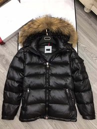Wholesale Mens Winter Down Parka - M364 anorak men winter jacket hommes real raccoon fur parka winter coat mens winter jackets and big fur coats homme