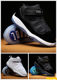 Wholesale Kids XI Space Jam Shoes Little Baby Boys Girls Toddlers s Gamma Concord Bred Pre Walkers Sneaker C C