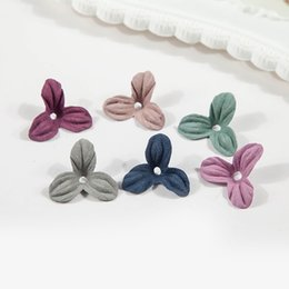 Wholesale Brooch Shoes Ship - Free Shipping Wholesale 50pcs lot 2cm Handmade Fabric Triangle Flower Slice Shape DIY Brooch Shoes Bags Headband Hair Accessories