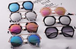 Wholesale Trendy Kids Frames - 7 Color Children Pengaton Sunglasses Hot Summer Trendy Boys Girls White Black good Sunglasses Fashion Frame Kids Eyewear wt17531