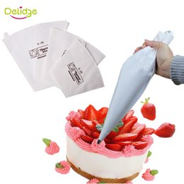 Wholesale Cookie Ice - Delidge 20 pc 3 Sizes Cake Decoration Bag Cookie Icing Piping Bag Re-Useable Cotton Cloth Fondant Cake Decorating Tips Tool