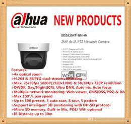 Wholesale mini ptz dome ip camera - Free Shipping DAHUA Security IP Camera cctv 4X 2MP HD Mini IR PTZ Dome Camera with POE Wifi Camera Without Logo SD29204T-GN-W