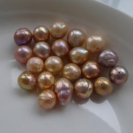 Natürliche barocke perlen großhandel online-2017 neue DIY perlen Ungewöhnliche farbe Barock Edison Natürliche süßwasser perlen 11-13mm lose perlen von perlen zubehör großhandel Freies verschiffen