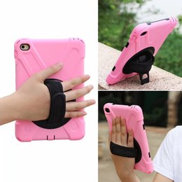 Wholesale Ipad Mobile Cases - Newest Popular PC Silicone Protective Hybrid Case Hard Soft Kickstand Armor Mobile Phone Back Cover for Ipad mini 1 2 3