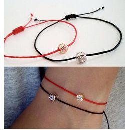 Wholesale Elegant Bracelet 925 - 2017 Top Fashion Real Round High Quality 100% 925 Silver Cz Bead Diy Rop Elegant Dainty Girl Women Delicate Handmade Bracelet