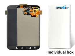 Wholesale Screen Lcd Galaxy Note2 - White 100% test LCD For Samsung Galaxy Note2 II N7100 N7105 LCD Display Touch Screen Digitizer No Frame Assembly,free DHL shipping
