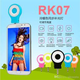 Argentina RK07 Smart Phone Camera LED Flash Selfie Sync que mejora la ayuda de la luz del LED para el iPhone 5 6 6s Galaxy S5 S6 fotografía múltiple del borde Suministro