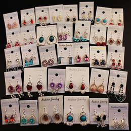Wholesale Earring Variety - Wholesale A Variety of Earrings 12pairs lot New Fashion Earrings Round Stud Earring Crystal Drop Earings Dangle Earing For Women