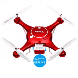 Wholesale Helicopter Land - SYMA X5UW RC Drone 720P WIFI FPV Camera Helicopter Height Hold One Key Land 2.4G 4CH 6Axis RC Quadcopter With 4GB Micro SD Card