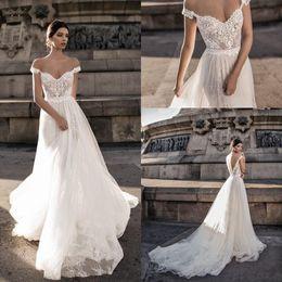 69fc187b4bc1 Discount romantic chiffon off shoulder wedding dress - 2018 New Sheer  Bohemian Off Shoulder Wedding Dresses