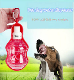 Wholesale Drink Bottles Dog - 250ml Foldable Pet Dog Water Bottle Outdoor Travel Portable Cat Drinking Bowls Dog Fountain Automatic Water Dispenser