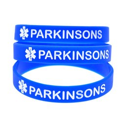 Wholesale Medical Supports - New Arrival 100PCS Lot Medical Alert Parkinsons Silicon Bracelet, Show Your Support For Them By Wearing This Wristband