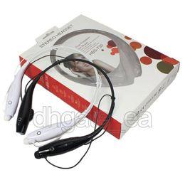 Wholesale Headphones Free Dhl - Wireless bluetooth headphones hbs 730 hbs730 wireless headset Stereo sport neckband earphones for LG iPhone Samsung hbs 800 hbs 900 free dhl