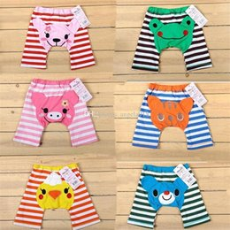 Wholesale Cute Infant Tights - 2017 new kids cute Toddler cartoon PP Pants Baby Warmer Leggings infant animal Shorts 6 colors C1877