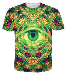 Wholesale Woman Abstract Shirts - Abstract art All Seeing eyes t shirt Psychedelic print T-shirt men women summer tee tops colorful harajuku shirts 2017 Alisister 17310