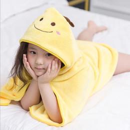 Детская одежда онлайн-Новый дизайн 2017 Дети животных Халат малышей мальчика девушки младенца мультфильм Pattern Полотенце с капюшоном Полотенце Терри Wrap Ванна Одеяния