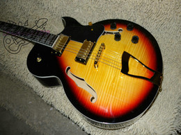 Wholesale 137 Guitar - new Sunburst Vintage 137 classic Jazz Guitar Gold pickups Wholesale Guitars OEM Free shipping