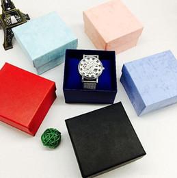Wholesale Mens Womens Automatic - 50PCS 6Colors Boxes Cases Gift Box Automatic Quartz Lady Womens Mens Men's Watches Watch 2017 Hot Sale