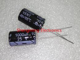 Wholesale electrolytic capacitor 25v - Wholesale-20Pcs 1000UF 25V 10X17 electrolytic capacitor 25V1000UF 25V 1000UF 10mm*17mm