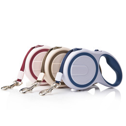 Wholesale Baby Products Brands - (30 Pieces lot) Brand Global baby 3M and 5M Fashion ABS Pet Products Automatic Retractable Dog Leashes Drop Shipping