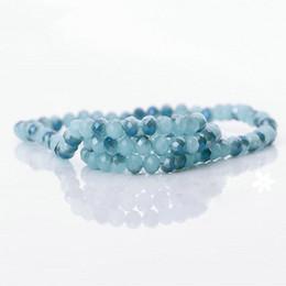 Faça porcelana on-line-98 unidades / pacote 6mm moda Rondelle facetada jade de cristal de porcelana banhado a solta Spacer Beads DIY fazer jóias