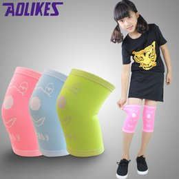 Wholesale Nylon Rollers - Wholesale- AOLIKES 1 Pair Nylon Elastic Sport Knee Pads For Children Kneepads For Ddancing Roller Skating Kids Rodilleras Protector