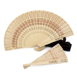 Wholesale Wood Carving China - Chinese Sandalwood Scented Wooden Openwork Personal Hand Held Folding Fans for Wedding Decoration, Birthdays, Home Gifts