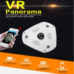 Wholesale Outdoor Cctv Camera Iphone - HD 960P Panoramic View VR IP WIFI 360 Degree 3D fisheye Network CCTV Security Camera With Night Vision Motion Detection For Iphone Android