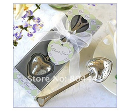 Wholesale Teatime Heart Tea Infuser - wedding gift and giveaways--TeaTime Heart Tea Infuser Favor in Teatime Gift Box 100 pieces lot