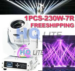 Wholesale Dual Moving Head - freeshipping New arrive LED stage DMX lighting 7R 230W 16 channels Dual Rotation Prism Touch Screen Moving Head Beam Light AC 110-240V