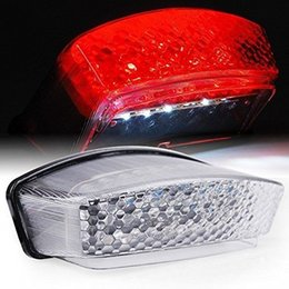 Wholesale Motorcycle Led Tail Light Brake - Motorcycle accessories Rear Brake Led Tail Lights For Ducati 1994 1995 1996 1997-2008 Monster 900 1000 S2R S4 S4R S4Rs clear
