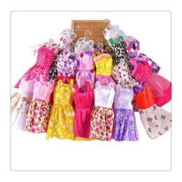 Wholesale Girl Different Dress - 2017 Doll Play Dress Handmade Different Styles Colors Short Dress For Barbie Dolls Can Any Change Clothes Random Doll Clothes Free Shipping