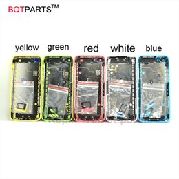 Wholesale Iphone 5c Metal Housing - Replacement Back Battery Cover Housing Assembly for Apple Iphone 5c 5 Color Metal Housing