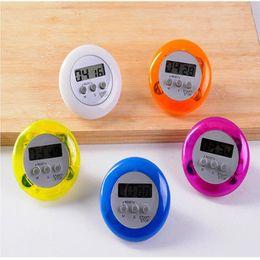 Wholesale Mini Digital Count Up Timer - Wholesale 20 Pcs Mini Digital Kitchen Cooking Cook Count Down Up LCD Timer Alarm Clock 5 Colors