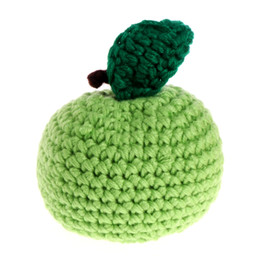 Wholesale Apple Movie - Wholesale- Baby Kids Child Cute Crochet Knit Apple Toy Photography Props Equipment Outfits