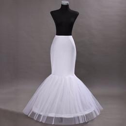 Wholesale Dress Bone Hoop - Hot sale Mermaid Petticoat   slip 1 Hoop Bone Elastic Wedding Dress Petticoat Crinoline Jupon Mariage Free Shipping