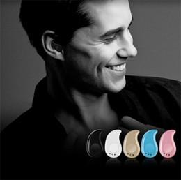 Wholesale Micro Headset Earphone - 2017 New S530 Mini Wireless Bluetooth 4.0 Earphone Stereo Light Stealth Headphones Headset Earbud With Micro phone Universal with retail box
