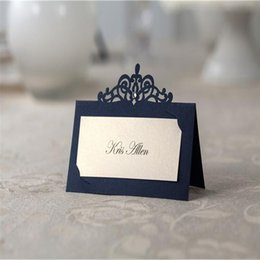 Wholesale Graduation Place Cards - DHL wedding table card seat Wedding Decorations Party place card Caio style name card hollow seating cards personalized table cards