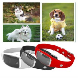 Wholesale Gps Dog Collars - Mini Waterproof Silicon Pets Collar GPS Tracker Real time Locator GPS+LBS+WIFI Location Locator for Dog Cat Tracking Geofence